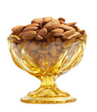 Bowl filled with almonds Stock Image