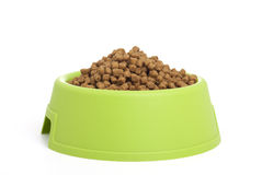 Bowl filled with animal food Stock Photos