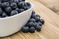 Bowl filled with Blueberries Royalty Free Stock Images