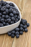 Bowl filled with Blueberries Royalty Free Stock Image