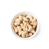 Bowl filled with cashew nuts isolated Royalty Free Stock Image