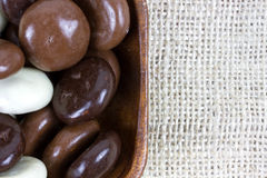 Bowl filled with chocolate kruidnoten Royalty Free Stock Photo