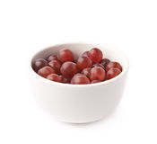 Bowl filled with the dark grapes Stock Photo