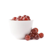 Bowl filled with the dark grapes Royalty Free Stock Photo