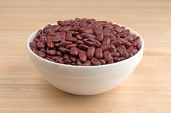 Bowl filled with dark red organic kidney beans Royalty Free Stock Photography
