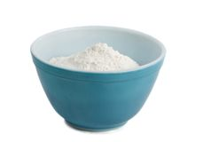 Bowl filled with flour stock image