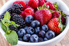 Bowl Filled with Fresh Organic Berries Royalty Free Stock Image