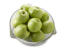 Bowl filled with green apples Royalty Free Stock Photos