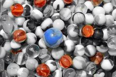 Bowl filled of marbles Stock Photo