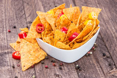 Bowl filled with Nachos Royalty Free Stock Photos