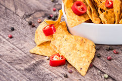 Bowl filled with Nachos Royalty Free Stock Photo