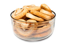 Bowl filled puff cookies Stock Image