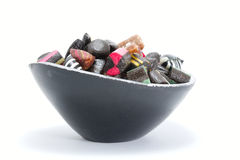 Bowl filled with rock candy Stock Photography