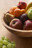 Bowl Filled With A Variety Of Fresh Fruit Stock Photo