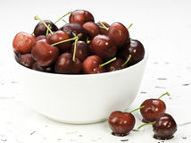 Bowl Filled With Cherries Royalty Free Stock Photography