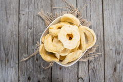 Bowl Filled With Dried Apples Stock Photography