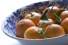 Bowl Filled With Mandarin Oranges Stock Image