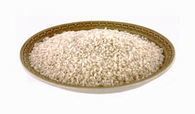Bowl fine rice Stock Images