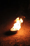 Bowl with fire Royalty Free Stock Photos
