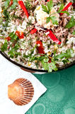 Bowl of fish salad Royalty Free Stock Images