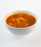 Bowl of fish soup Stock Photography