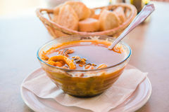 Bowl of fish soup Royalty Free Stock Images