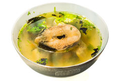 Bowl of fish soup Royalty Free Stock Photography