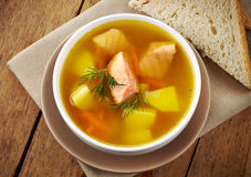 Bowl of fish soup Royalty Free Stock Photos