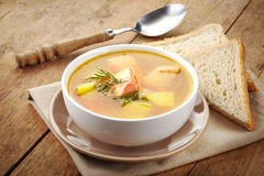 Bowl of fish soup Stock Image