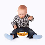 Bowl of flakes Stock Images
