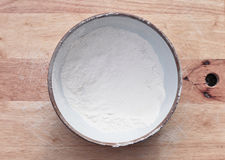 Bowl of flour Royalty Free Stock Photo