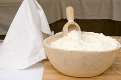 Bowl with flour Stock Image