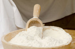 Bowl with flour Royalty Free Stock Photography