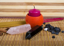 bowl flower frangipani spa θέμα Κερί, κρύσταλλα και θυμίαμα aromatherapy Στοκ φωτογραφία με δικαίωμα ελεύθερης χρήσης