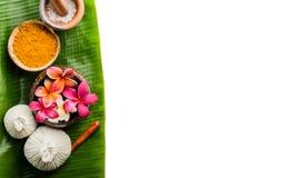 bowl flower frangipani spa θέμα Στοκ εικόνες με δικαίωμα ελεύθερης χρήσης