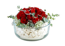 Bowl of flowers Royalty Free Stock Image
