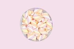 Bowl of fluffy sweet sugary marshmallows Stock Photo