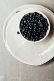 Bowl with forest blueberry Stock Photo