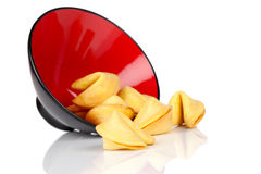 Bowl of Fortune Cookies Stock Photography