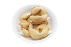 Bowl of Fortune Cookies Royalty Free Stock Photography