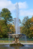 The Bowl fountain close up in the sunny October afternoon in the palace park of Peterhof Stock Image