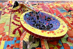 Bowl of the fountain decorated with mosaics Royalty Free Stock Images