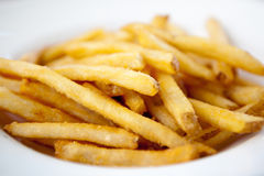 Bowl of French fries Stock Photo