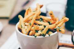 Bowl of French fries Stock Image