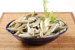 Bowl of fresh anchovies Stock Photo