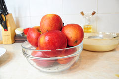 Bowl of fresh apples Royalty Free Stock Image
