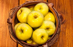 Bowl of Fresh Apples Stock Image