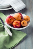 Bowl of fresh apricots Stock Image