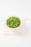 Bowl of fresh arugula Stock Photography