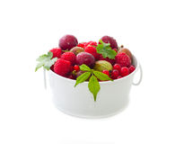 Bowl of fresh berries Royalty Free Stock Photos